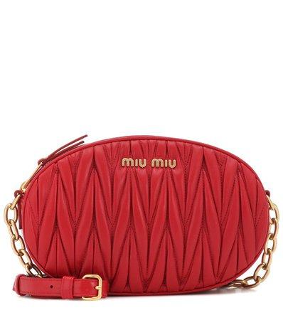 Miu Miu - Matelassé leather shoulder bag | Mytheresa