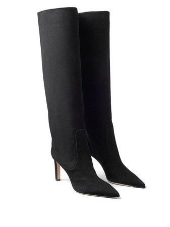 Jimmy Choo Pointed Toe Leather Boots - Farfetch