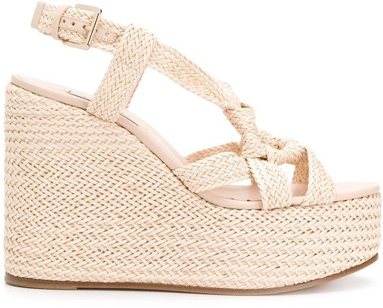 Woven Ring Wedge Sandals