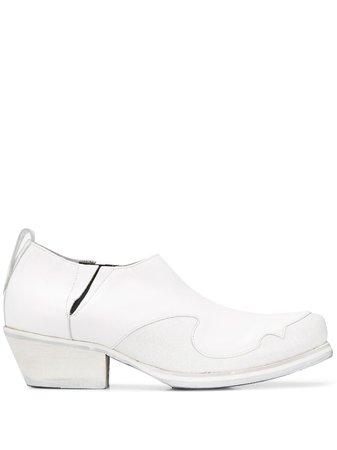 Our Legacy Cracked Ankle Boots A4197AC White | Farfetch