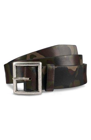 Allen Edmonds Camocliff Avenue Leather Belt