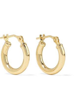 Loren Stewart | Baby Chubbie Huggies gold hoop earrings | NET-A-PORTER.COM