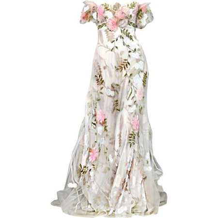 White Floral Couture Gown (zuhair murad)