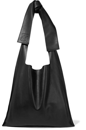 Loewe | Bow oversized leather shoulder bag | NET-A-PORTER.COM