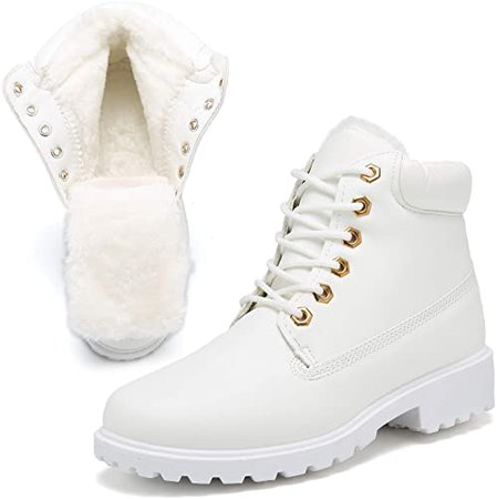 Amazon.com | KARKEIN Ankle Boots for Women Low Heel Work Combat Boots Waterproof Winter Snow Boots | Snow Boots
