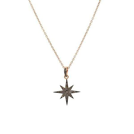 Necklaces | Shop Women's Black Sterling Silver Star Necklace Jewelry Set at Fashiontage | 5054469036068