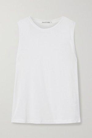 Brando Slub Jersey Tank - White