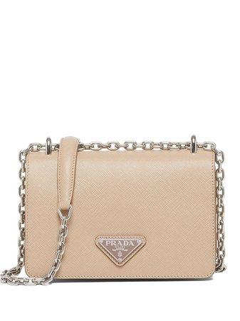 Prada chain-link Trim Shoulder Bag - Farfetch