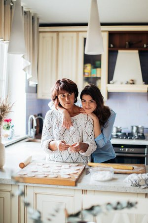 Mother and Daughter in Kitchen · Free Stock Photo