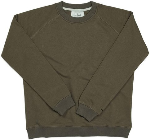 Reflect Studio - Loose-Fit Raglan Sleeve Organic Sweatshirt S2 Khaki