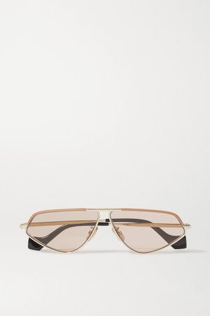 Gold Cat-eye gold-tone and acetate sunglasses | Loewe | NET-A-PORTER