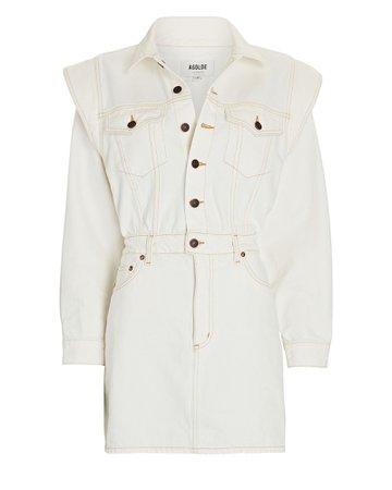 AGOLDE Reyna Denim Mini Dress | INTERMIX®