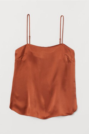 Silk Camisole Top - Rust brown - Ladies | H&M CA