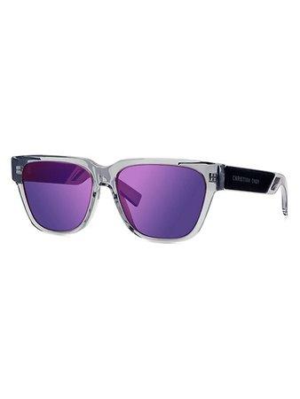 Dior Diorxtrem SI 57MM Plastic Rectangular Sunglasses   SaksFifthAvenue