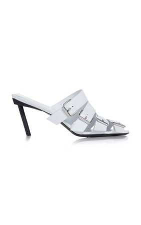 Buckle Leather Sandals By Balenciaga | Moda Operandi