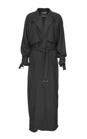 SITUATIONIST Belted Long Wool Coat