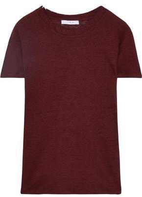 Lymann Distressed Slub Linen-jersey T-shirt