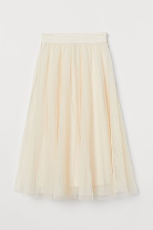 Tulle Skirt - Beige