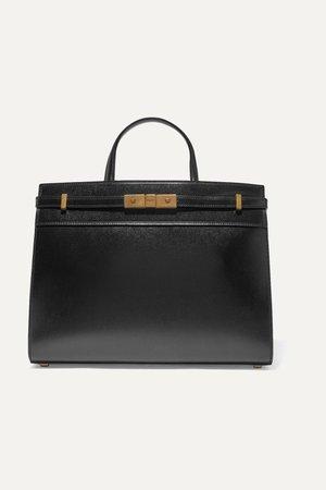 Black Manhattan small leather tote   SAINT LAURENT   NET-A-PORTER