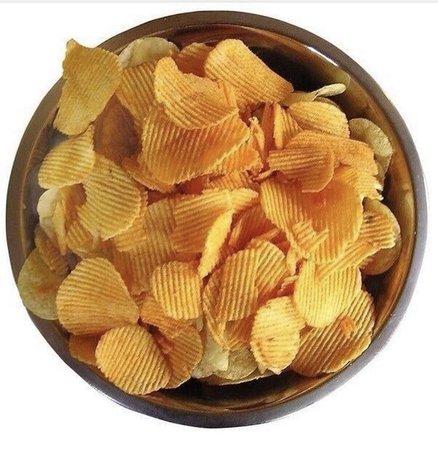 Brown tan potato chips polyvore moodboard filler | Food png, Food, Food hacks