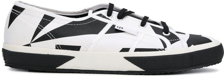 X VITKAC two tone lace-up sneakers