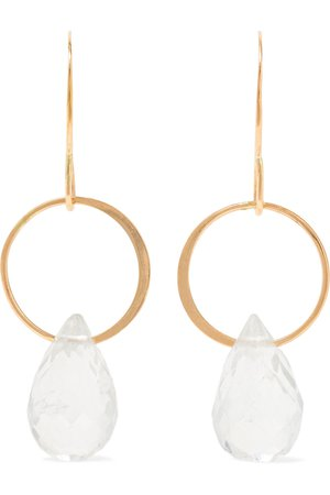 Melissa Joy Manning | 14-karat gold topaz earrings | NET-A-PORTER.COM