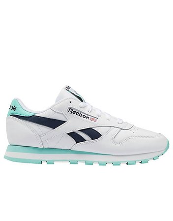 Reebok Classic Leather sneakers in white and mint   ASOS