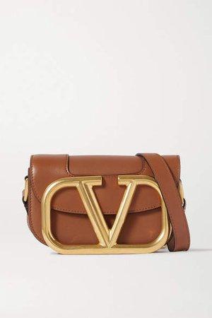 Garavani Supervee Small Leather Shoulder Bag - Brown