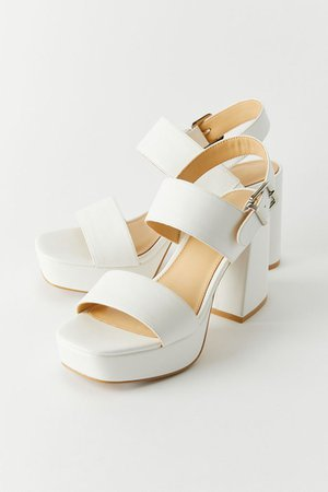 59 UO Rachel Faux Leather Strappy Platform Heel | Urban Outfitters