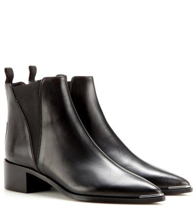 Jensen Leather Ankle Boots ∇ Acne Studios ♦ mytheresa.com