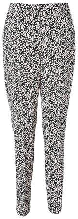 **Tall Black Ditsy Print Trousers