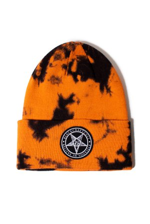 *clipped by @luci-her* Believe In Yourself - Orange Lightning Dye Beanie – Blackcraft Cult