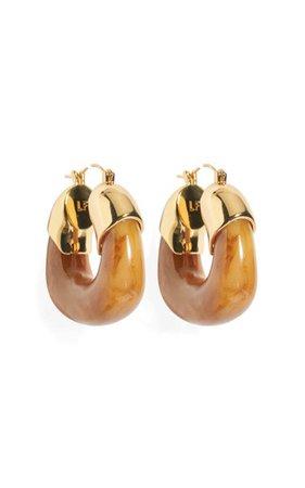 The Organic Acrylic Hoop Earrings By Lizzie Fortunato | Moda Operandi