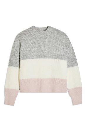 Topshop Stripe Colorblock Sweater   Nordstrom