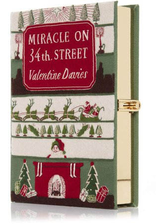 Miracle on 34th Street Appliquéd Embroidered Canvas Clu