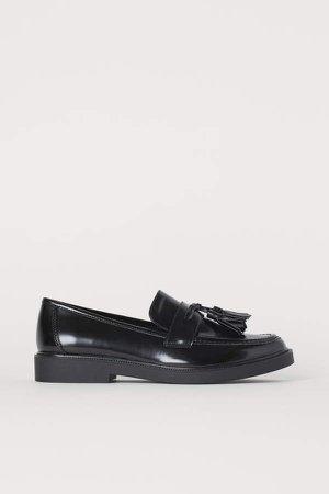 Tasseled Loafers - Black