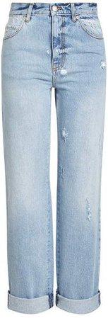 $176 Alexander McQueen High-Waisted Baggy Jeans