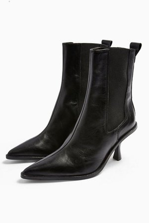 MADRID Leather Black Chelsea Boots | Topshop