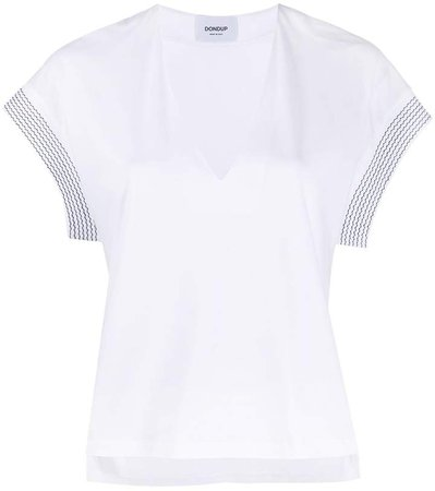 contrasting cuff cotton T-shirt