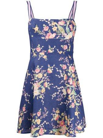 Zimmermann Zinnia Floral-Print A-Line Mini Dress | Farfetch.com