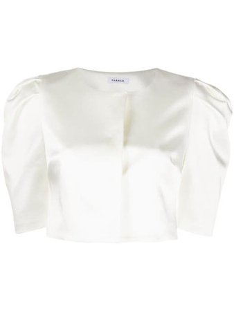 Shop white P.A.R.O.S.H. Alice cropped jacket with Express Delivery - Farfetch