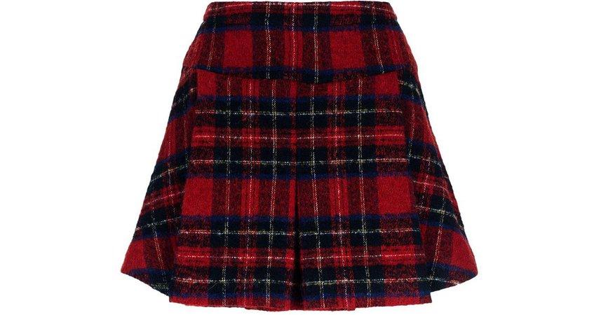 red tartan skirt