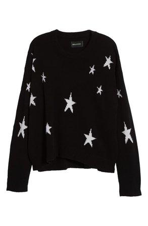 Zadig & Voltaire Markus C Star Pattern Cashmere Sweater | Nordstrom