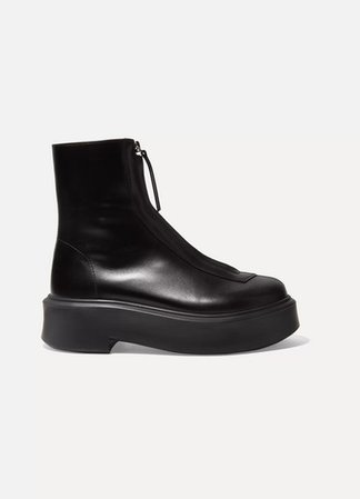 The Row | Leather ankle boots | NET-A-PORTER.COM