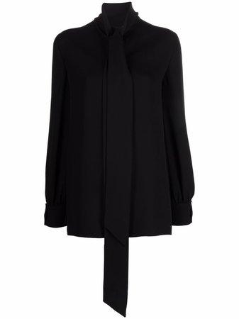 Valentino neck-tie Silk Blouse - Farfetch