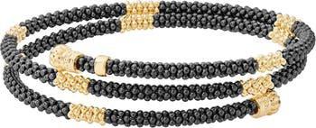 LAGOS Gold & Black Caviar Coil Bracelet | Nordstrom