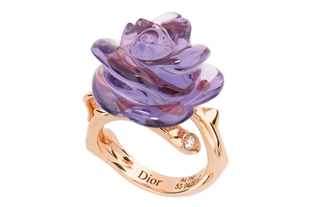 purple dior rose ring