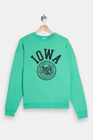 Green Iowa Sweatshirt