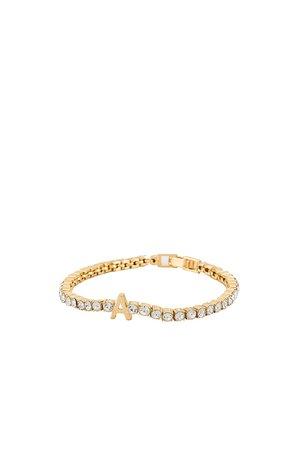 BaubleBar Gemstone Initial Bracelet in Gold | REVOLVE