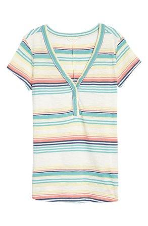 Caslon® Snap Front Henley T-Shirt | Nordstrom